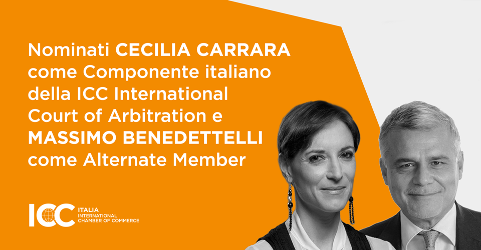 Nomine dei Componenti italiani della ICC International Court of Arbitration