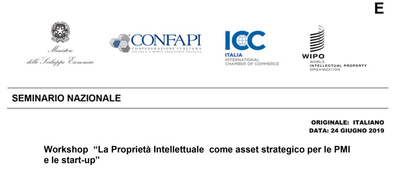 La Proprietà Intellettuale come asset strategico per le PMI e le start-up – Napoli, 17 settembre 2019