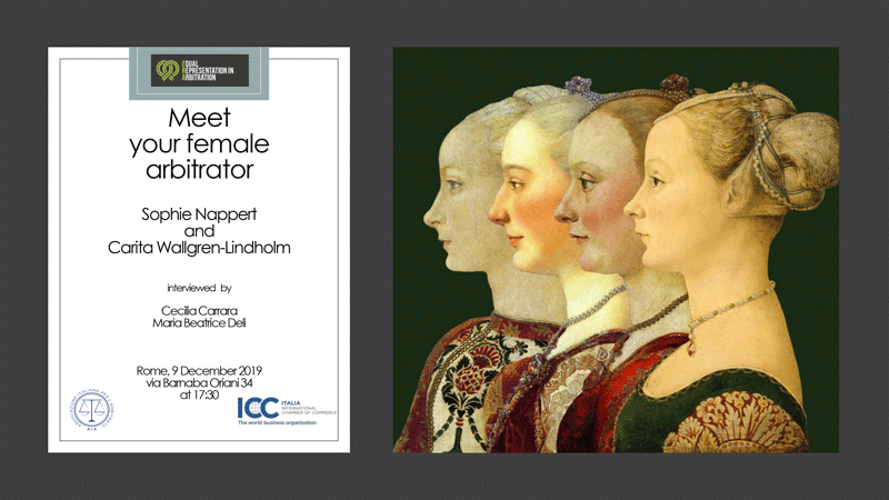 Meet Your Female Arbitrator | Roma, 9 dicembre 2019